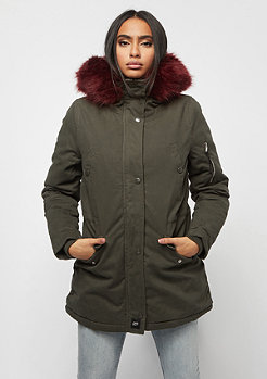 Sixth June Parka khaki/burgundy
