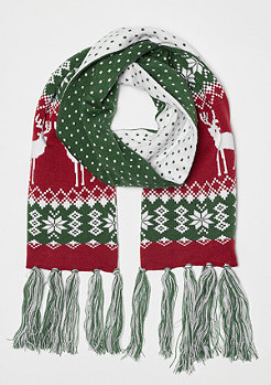 Urban Classics Christmas Scarf green/red