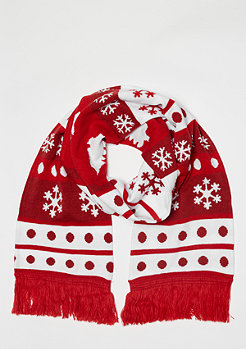 Urban Classics Christmas Scarf Dots red/white