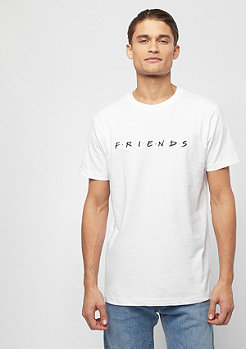 MERCHCODE Friends Logo EMB Tee white