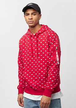 Alpha Industries All Over Hoodie speed red