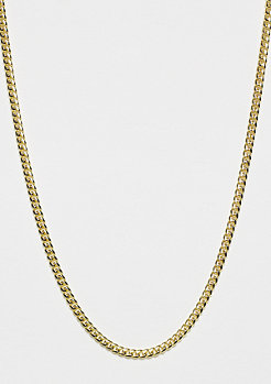 King Ice Miami Cuban Curb Halskette 3mm mit Gold Überzug - Länge 76cm