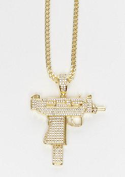 King Ice Uzi Waffe Kette Gold Überzug