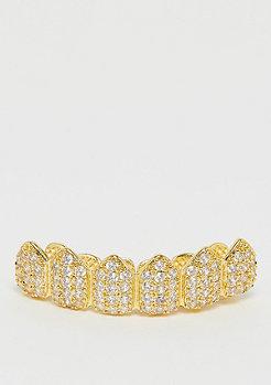 King Ice CZ Studded Teeth Grillz Gold Überzug