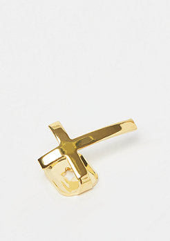 King Ice Cross Single Grillz Gold plated