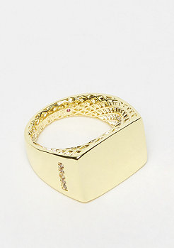 King Ice Minimalist Ring - size L Gold plated 9US