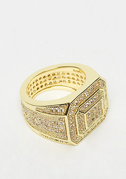 King Ice Championship Style Ring Gold plated 8US