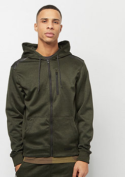 Southpole MARLED TECH FLEECE FULL ZIP HOODIE MARLED OLIVE