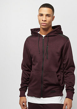 Southpole MARLED TECH FLEECE FULL ZIP HOODIE  MARLED BURGUNDY