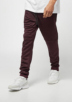 Southpole MARLED TECH FLEECE PANTS MARLED BURGUNDY