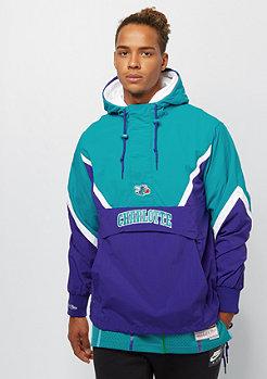 Mitchell & Ness NBA Half Zip Anorak Charlotte Hornets blue/teal