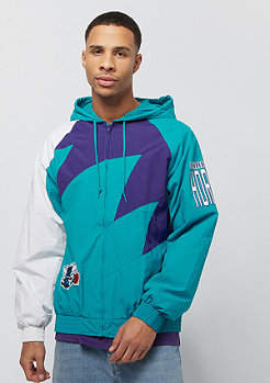 Mitchell & Ness Shark Tooth Jacket Charlotte Hornets teal