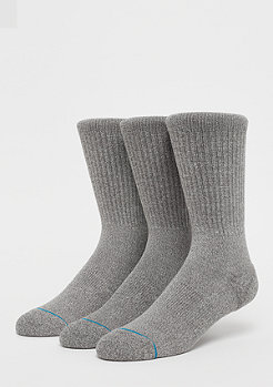 Stance Uncommon Solids Icon 3 Pack grey heather