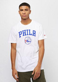 New Era NBA Team Logo Tee Philadelphia 76ers white