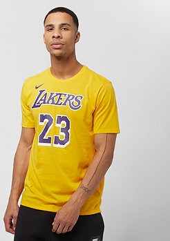 NIKE NBA LA Lakers Dry Tee Lebron James yellow