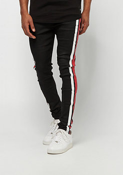 Sixth June Denim With Bicolor Printed Band black red