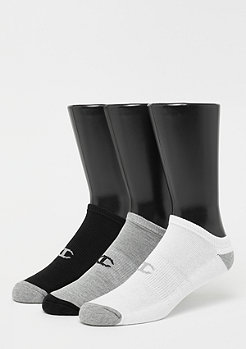 Champion 3x No Show socks performance white/black/grey