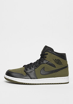 JORDAN Air Jordan 1 Mid olive canvas/black/white