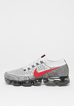 NIKE Air VaporMax Flyknit pure platinum/university red/black