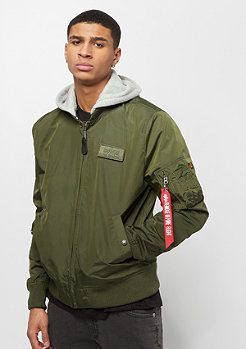 Alpha Industries MA-1 TT Hood dark green