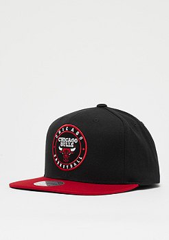Mitchell & Ness The 2 Tone Circle Patch NBA Chicago Bulls black/red