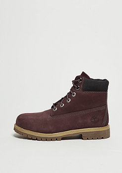 Timberland Kids 6-Inch Premium Waterproof dark red
