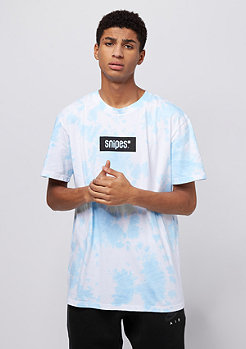 SNIPES Box Logo Batik light blue/white