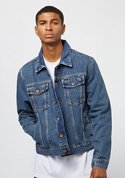 Brixton Cable Denim Jacket worn indigo