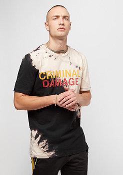 Criminal Damage CD Blech Tee black/tan