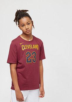 NIKE Cleveland Cavaliers Lebron James burgundy
