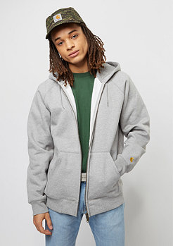 Hooded-Zipper Chase grey heather/gold