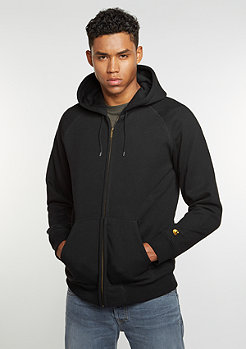 Hooded Zipper Chase black