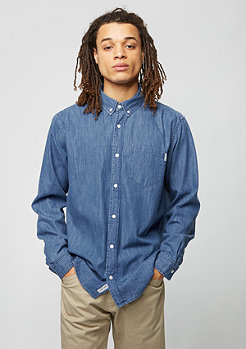 Carhartt WIP Langarm-Hemd Civil blue stone washed