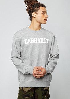 Sweatshirt College grey heather/white