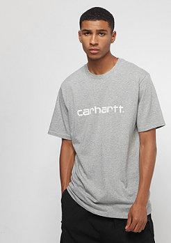 Carhartt WIP S/S Script grey/white