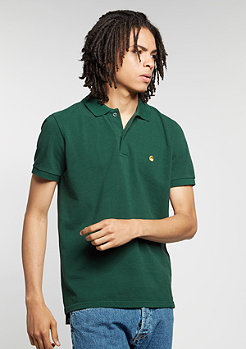 Polo Slim Fit conifer/gold