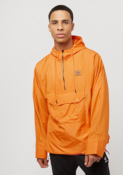 adidas Warped Pinstripe Halfzip Windbreaker joy orange