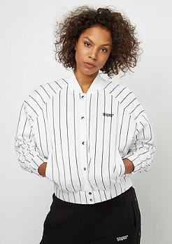 SNIPES Pinstripe Blouson white/black