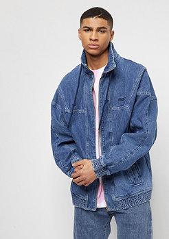 SNIPES Hooded Denim Jacket blue