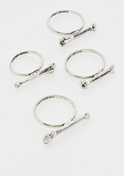 Cheap Monday Skull Rings silver