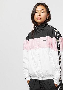 SNIPES Tape Block Trackjacket black/rose/white
