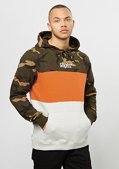 SNIPES Hooded-Sweatshirt Block camo/orange posicle/moonbeam