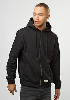 Hooded-Zipper Sweat black