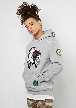 Cayler & Sons Hooded-Sweatshirt Patched grey