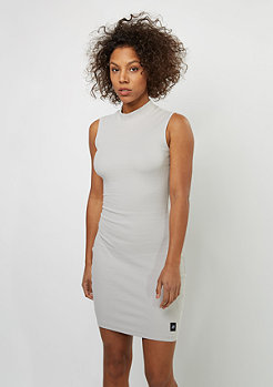 Kleid Ribbed Open light grey