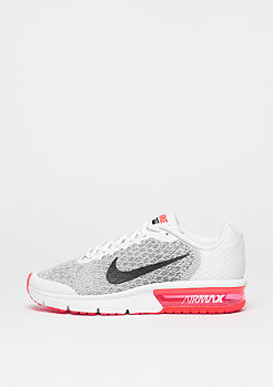 NIKE Schuh Air Max Sequent 2 (GS) white/black/bright crimson