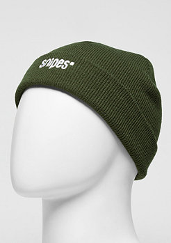 SNIPES Beanie Small Logo olive/white