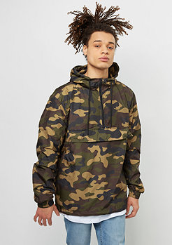 Urban Classics Camo Pull Over Windbreaker woodcamo