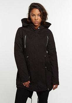 Winterjacke Sherpa Lined Cotton Parka black