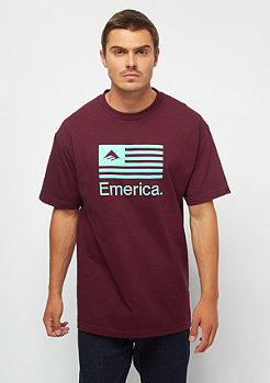 Emerica Pure Flag burgundy